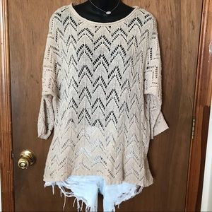 Pacsun Cream Knit Sweater